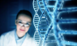 Woman science technologist in laboratory Royalty Free Stock Photography