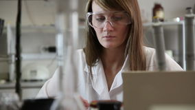 Woman scientist in the lab Royalty Free Stock Photo