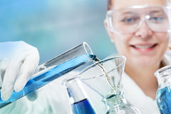 Woman scientist in laboratory Royalty Free Stock Photography