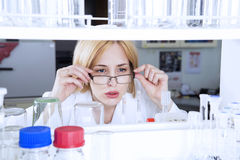 Woman scientist in laboratory Royalty Free Stock Photo