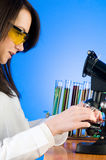 Woman scientist working Royalty Free Stock Image
