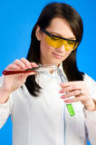 Woman scientist working Stock Photo