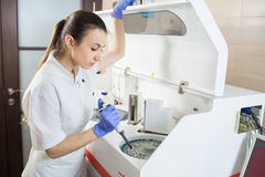 Woman scientist working Royalty Free Stock Photography