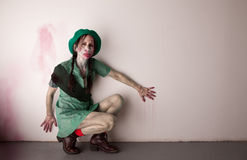 Woman scout zombie stock images
