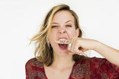 Woman Scream Shouting Furious Portrait Concept Stock Images
