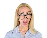 Woman scream up Stock Photo