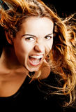 Woman screaming Royalty Free Stock Photography