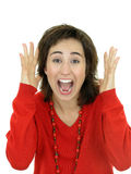 Woman Screaming. Isolated Royalty Free Stock Image
