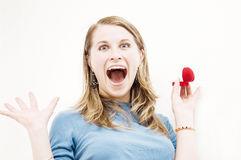 woman screaming Stock Photography