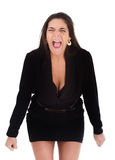 Woman screaming Royalty Free Stock Photo