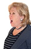 Woman screaming loudly Stock Image