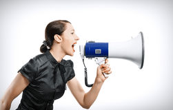 Woman screaming Royalty Free Stock Photos