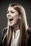 Woman screaming Royalty Free Stock Image