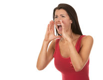Woman screaming Stock Photos
