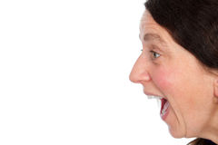 Woman is screaming Royalty Free Stock Photos