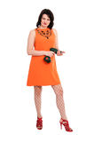 Woman with screwdriver Royalty Free Stock Photos