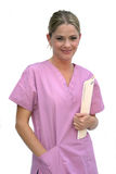 Woman in Scrubs Stock Image