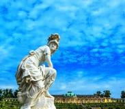 Woman sculpture in Castle Park Sanssouci in Potsdam, Germany Royalty Free Stock Photos