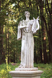 Woman sculpture in park Royalty Free Stock Photo