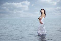 Woman and sea Royalty Free Stock Photos