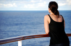 Woman at sea Stock Photos
