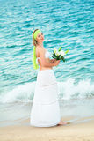 Woman and sea Royalty Free Stock Image