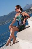 Woman and sea Stock Photos