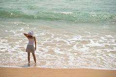 Woman and sea Stock Photos