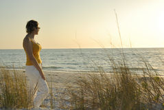Woman by the Sea Stock Image