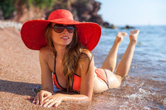 Woman&sea Stockfotografie