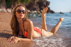 Woman&sea Lizenzfreies Stockfoto