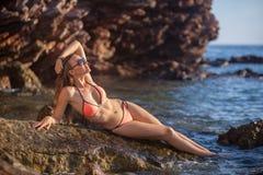 Woman&sea Royalty Free Stock Photography
