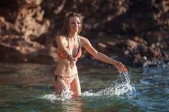 Woman&sea Stock Photography