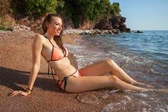 Woman&sea Stock Image