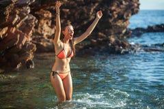 Woman&sea Royalty Free Stock Photo