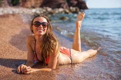 Woman&sea Royalty Free Stock Images