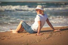 Woman on sea Stock Image
