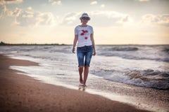 Woman on sea Stock Photography