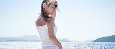 Woman at the sea Royalty Free Stock Photography
