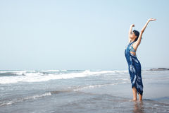 Woman at the sea Stock Image