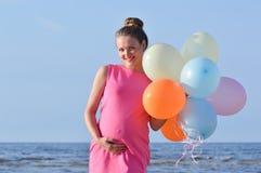 Woman at sea Royalty Free Stock Photography
