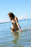Woman in sea royalty free stock photography