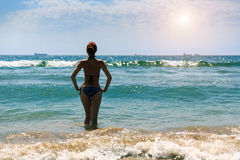 Woman in the sea Stock Photography