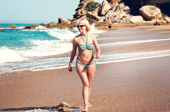 Woman in the sea Stock Photos