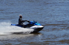 Woman on a seadoo Royalty Free Stock Photos