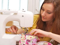 Woman seamstress work Royalty Free Stock Photo