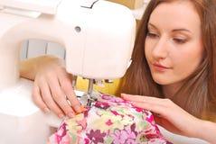 Woman seamstress work Royalty Free Stock Photo