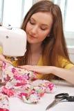 Woman seamstress work Stock Photo