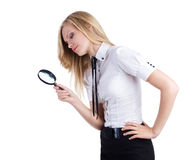 Woman search work Royalty Free Stock Image