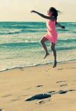Woman on the seaside Stock Photo